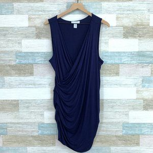 Jessica Simpson Maternity Ruched Dress Blue